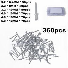 360Pcs Aluminum Rivet Fastener Assortment Aluminum Pop Rivet Open End Rivets