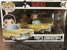 Funko Pop Rides Scarface Tony's Convertible #03 (Tony Montana) Rare