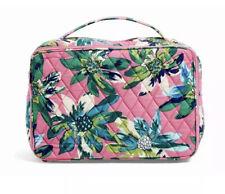 Vera Bradley Blush and Brush Makeup Case Tropical Paradise Travel Cosmetic