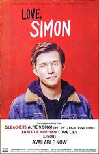LOVE, SIMON Soundtrack 2018 Ltd Ed New RARE Poster! BLEACHERS KHALID THE 1975 MØ