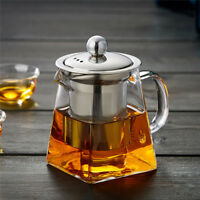 350-750ml Heat Resistant Clear Glass Teapot With Infuser Flower/Green Tea Pot