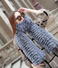 Farm Real Silver Fox Fur bride Pashmina Shawl Scarf Ladies shawl Coat