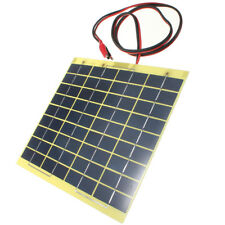 12V 5W Solar Panel & Clips For Car Home Camping Boat Battery Charger T2D2
