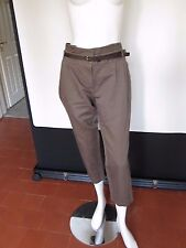 BEAUTIFUL NEXT  BROWN CROPPED WIDE LEG TROUSERS BELTED SIZE12R  BNWT  RRP £38.00