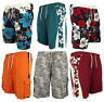 Mens Boys Cargo Swimming Short Sports Beach Casual Swim Shorts Printed Designs