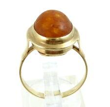 Damen-Ring-Bernstein-333/Gold- Ringgröße 56/17,8 mm. Ringkopf 16x14 mm
