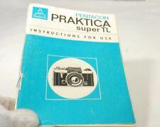 Pentacon Praktika Super TL Cámara Instrucciones para Uso Manual Guía 7219020