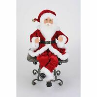 Karen Didion Originals Traditional Poseable Santas (Set of 2) Figurine, 17""