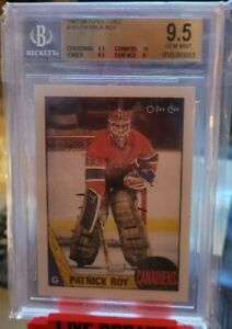 1987-88 O Pee Chee OPC Patrick Roy 2nd Year to RC BGS 9.5 Gem Mint Canadiens