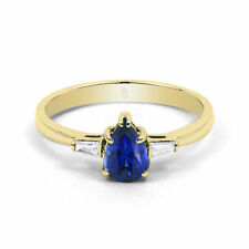 Pear Sapphire Engagement Fine Rings
