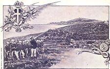 [RM7] CARTOLINA REGGIMENTALE 24° PRO PATRIA TORINO 1901 GAETA 1860