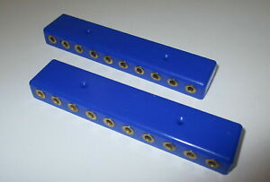"""Verteilerplatte,  20 Anschlüße für Stecker (2,6mm)   2 Stück    """"NEU"""""""