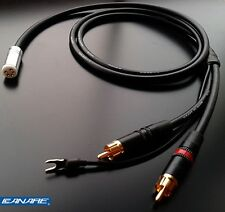 Canare starquad tonearm cable -  4 x 24AWG - 120cm long - straight connector