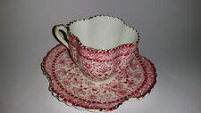 Beautiful Alexandra Shape Shelley Wileman Style demi tasse pink cup saucer 1890