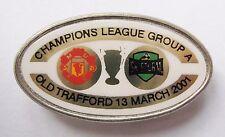 MANCHESTER UNITED v STURM GRAZ Champions League 2000/2001 Football Pin Badge