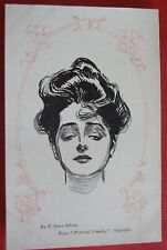 C.DANA GIBSON GLAMOUR ARTIST Postcard c.1905 FROM PICTORIAL COMEDY LADIES FACE