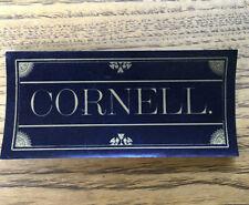 Antique Cornell Paper Label Ephemera Ornate