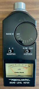 Vintage Radio Shack Realistic Sound Level dB Meter Cat. No 33-2050