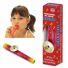 METAL KAZOO Toy Music Maker Kids Musical Instrument Flute Harmonica toy gift