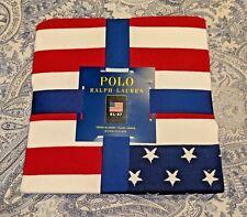 "***NWT***  Polo Ralph Lauren ""RL 67"" USA FLAG Throw Blanket 50"" x 70"""