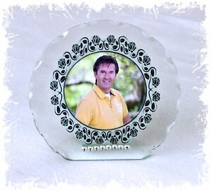 Daniel O'Donnell  Photo Cut Glass Round Plaque Frame + Diamante Ltd Edition  #1
