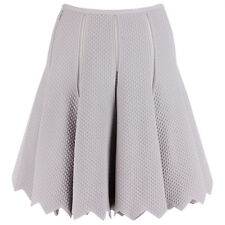 Alaia Pastel Lilac Textured Knit Jagged Hem Circular Skater Skirt FR42 UK14