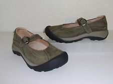 Keen Brown / Greenish Brown Leather Mary Jane Shoes Size 7 Loafers Flats