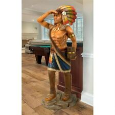 Cigar Store Indian Tobacconist  Hand Painted Statue: Large