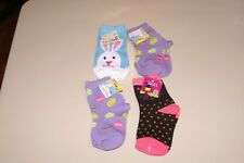 LOT OF 4 GIRLS SZ 5-6.5 EASTER AND HALLOWEEN SOCKS - NWT