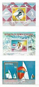 AQUATORIALGUINEA   ( EQUATORAL GUINEA   ) - LOT OF 12 SOUVENIR SHETS -  4 IMAGES