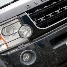Black+Chrome Disco 4 2014 facelift style front grille for Land Rover Discovery 3