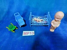 Vintage Doll House Dollhouse 50s Best, Acme, Blue Box Nursery Play Lot MP13
