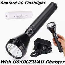NEW Sanford 1000 Meter CREE LED TACTICAL RECHARGEABLE POLICE FLASHLIGHT TORCH 2C