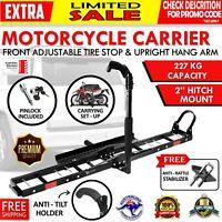"""Motorcycle Motorbike Carrier Rack 2"""" Towbar Arm Rack Bike Ramp Steel"""