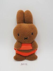 "Miffy A2112 Sekiguchi Tan Keychain Mascot 5.5"" Plush Stuffed Toy Doll Japan"