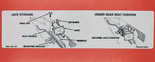 NOS OEM Jack Storage Instruction Decal Sticker / For 1984-2001 XJ JEEP CHEROKEE