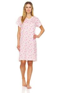 805 Women Nightgown Sleepwear Pajamas Short Sleeve Sleep Dress Nightshirt