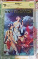 NOTTI & NYCE #0 Notti Limited Edition Princess Leia Variant CBCS 9.8!! Signed ×3