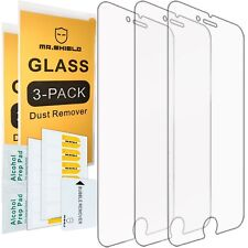 3 Pack Tempered Glass Screen Protector Shield For iPhone 7 Plus / iPhone 8 Plus