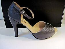 Repetto Paris Two Tone Green Suede And Leather Strap Sandals Size 37 1/2