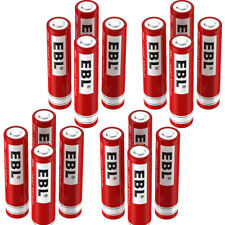 EBL 16PCS AAA Size 10440 350mAh 3.7V Rechargeable Lithium Battery