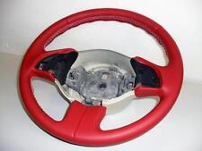 Fiat 500 coprivolante in vera pelle rossa cuciture bianche