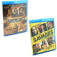 Savages & The Scorpion King 3 Blu-ray Films Doublepack Region B NEW SEALED