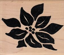 """solid leaf  hot potatoes Wood Mounted Rubber Stamp 3  1/2x 3""""  Free Shipping"""