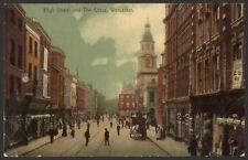Worcestershire. Worcester. High Street & The Cross. 1932 Worcester Postmark P/C