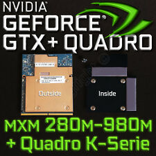 NVIDIA GTX 980m - 280m MXM ✔ cooling backplate ✔ ⟴ Quadro K + m serie ✔ Alienware ✔