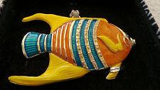 Harvey Lewis Swarovski Christmas Ornament Angel Fish 2007 Limited Edition-NIB