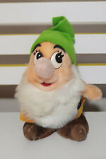 SNOW WHITE AND THE SEVEN DWARVES BASHFUL DISNEY PLUSH TOY SOFT TOY 20CM TALL!