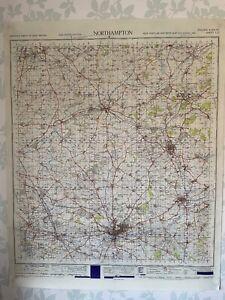 1949 Military System Map Northampton War Office Edition Northamptonshire