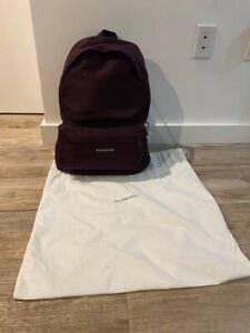 New Authentic Balenciaga Explorer Bordeaux Nylon Rucksack Backpack Shoulder Bag